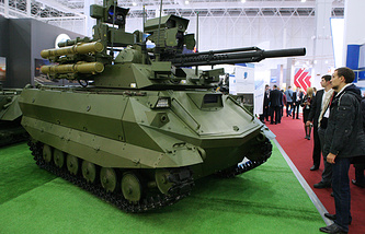 Uran-9 robotic vehicle