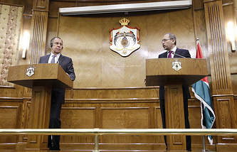 Russian and Jordanian Foreign Ministers, Sergey Lavrov and Ayman Al Safadi