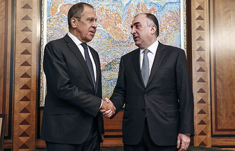 Russian and Azerbaijani foreign ministers, Sergey Lavrov and Elmar Mammadyarov