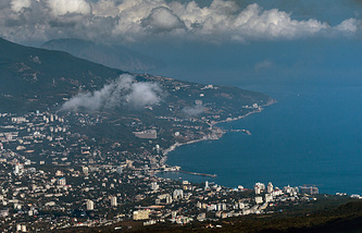 A view of Yalta on the Crimean Black Sea coast
