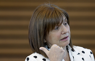 Argentina's Minister of Security Patricia Bullrich