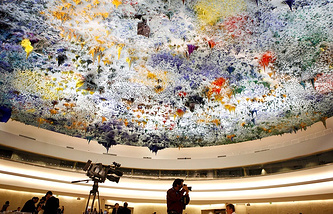 Sessions hall of the UN Human Rights Council