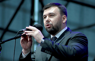 Denis Pushilin, acting head of the Donetsk People's Republic