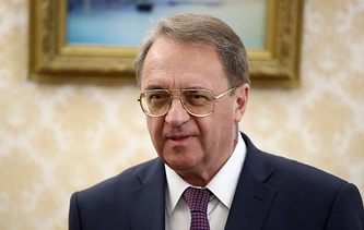 Russian Presidential Envoy for the Middle East and Africa, Deputy Foreign Minister Mikhail Bogdanov
