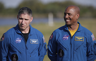 NASA astronauts Mike Hopkins and Victor Glover