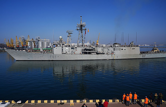 Spanish frigate from the Standing NATO Maritime Group