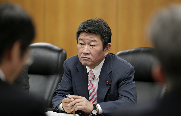 Japanese Minister of Economy, Trade and Industry Toshimitsu Motegi