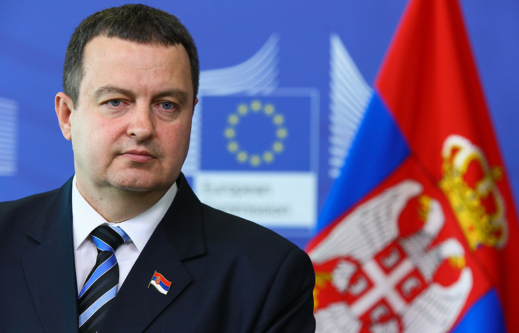 Serbian Prime Minister Ivica Dacic