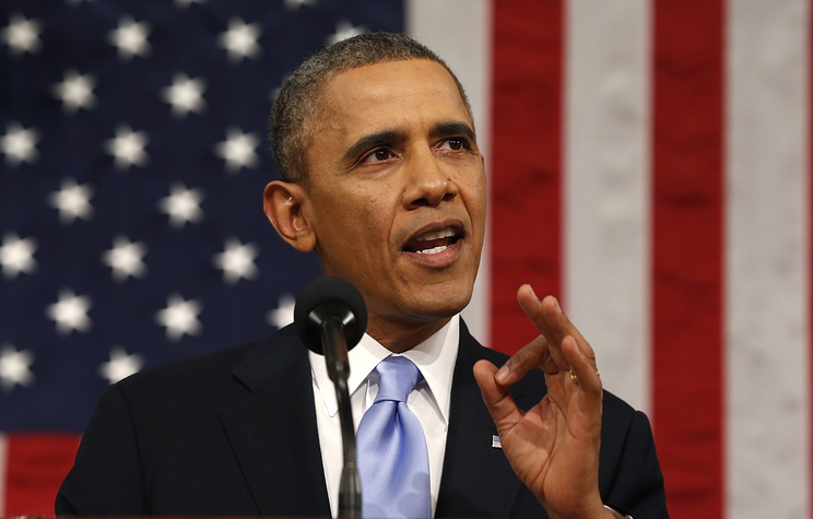 US President Barack Obama delivers his State of the Union address before a joint session of Congress