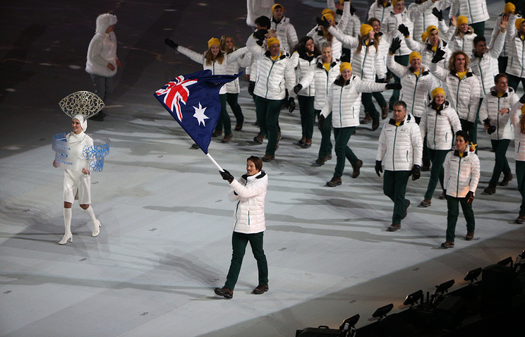 Parade of nations at the opening ceremony