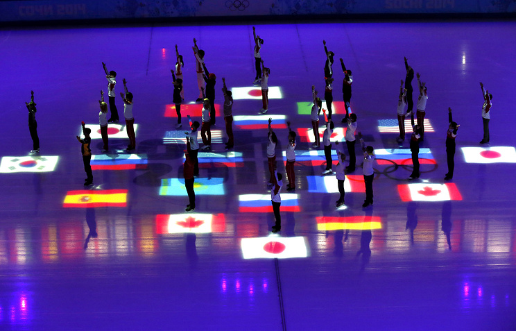 Participants of the figure skating gala event