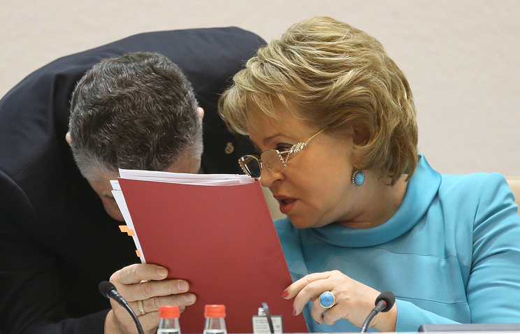 Valentina Matviyenko (right)