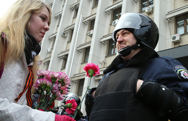 During a pro-Russian demonstration in Odessa (archive)
