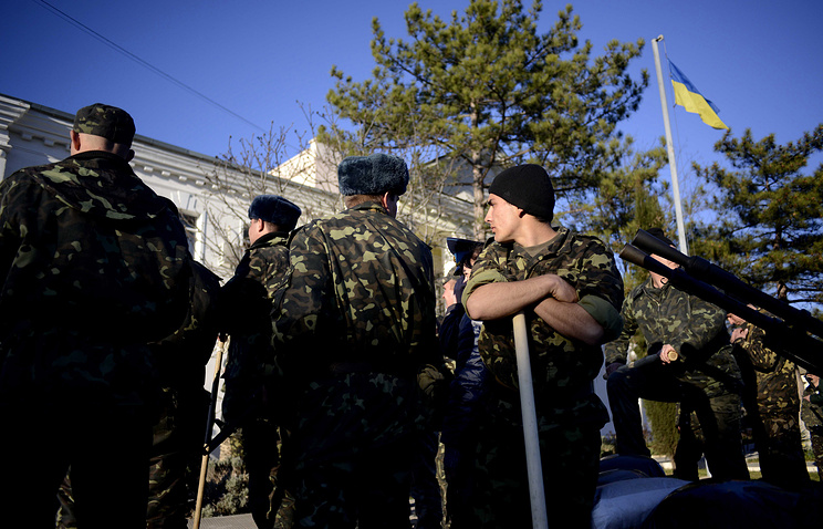 Ukrainian soldiers in Crimea