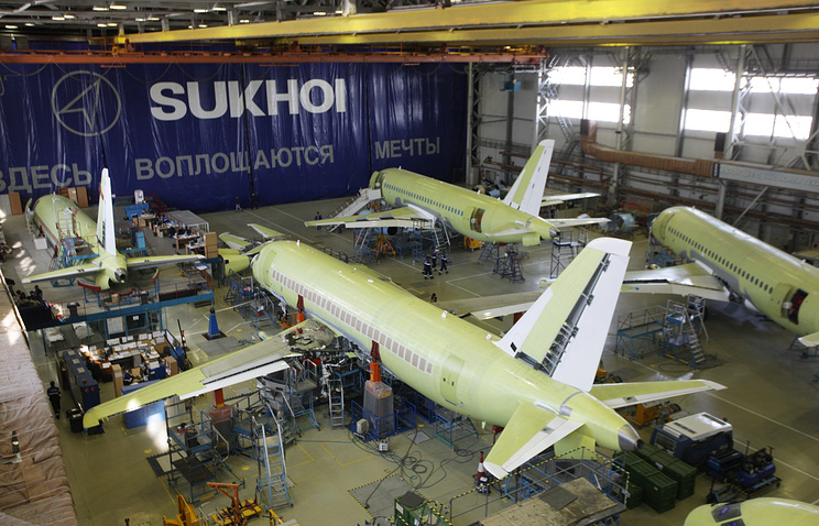 SuperJet-100 construction site in Russia's Ulyanovsk (archive)