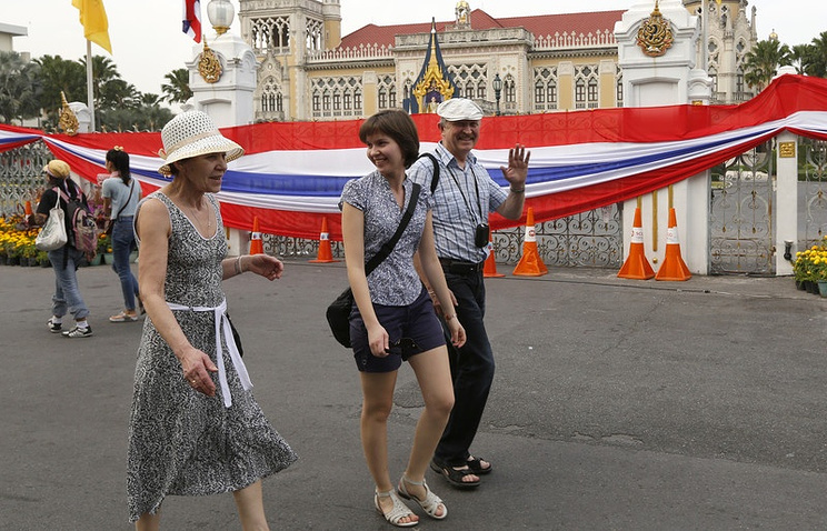 Russian tourists in Thailand