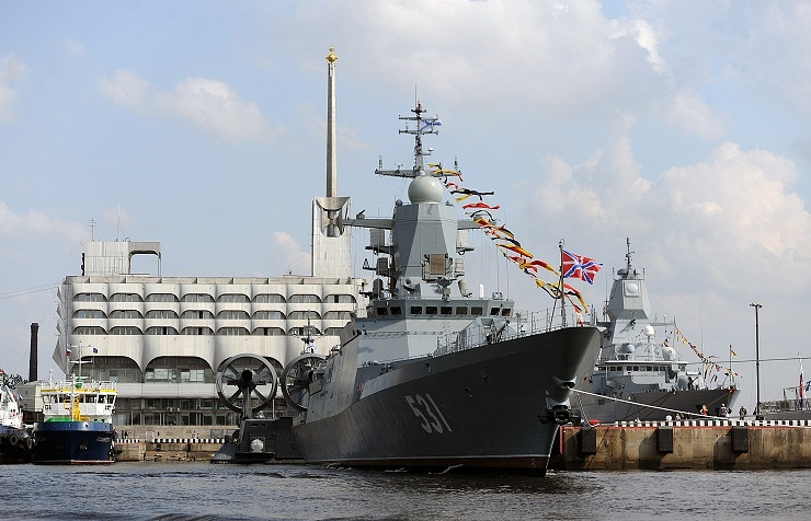 Stealth corvette Soobrazitelny in St. Petersburg