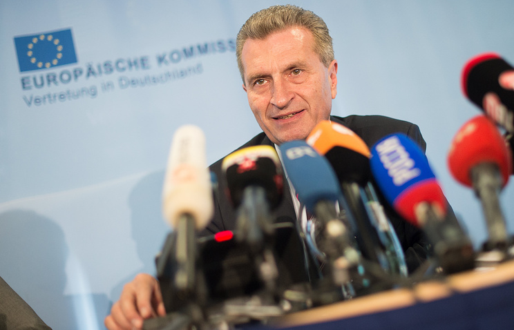 European Commissioner for Energy Guenther Oettinger