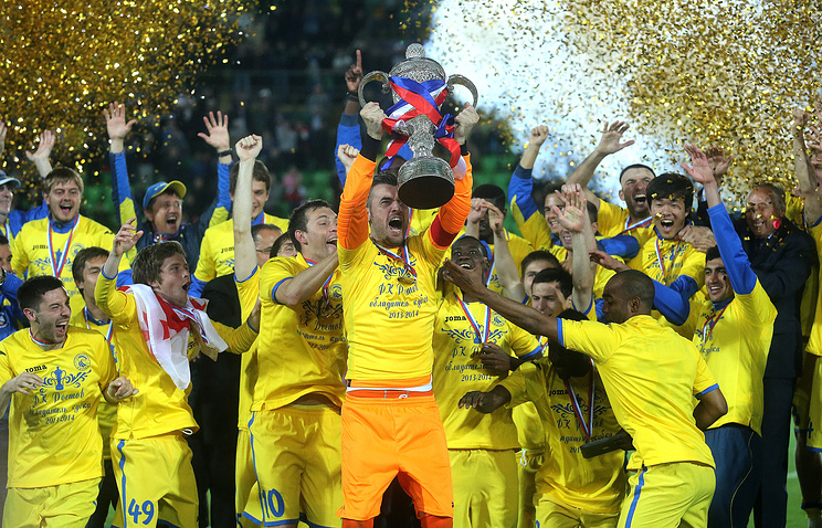 Rostov FC qualified for the European tournament for the first time since 2000 after winning this year's Russian Cup (photo)