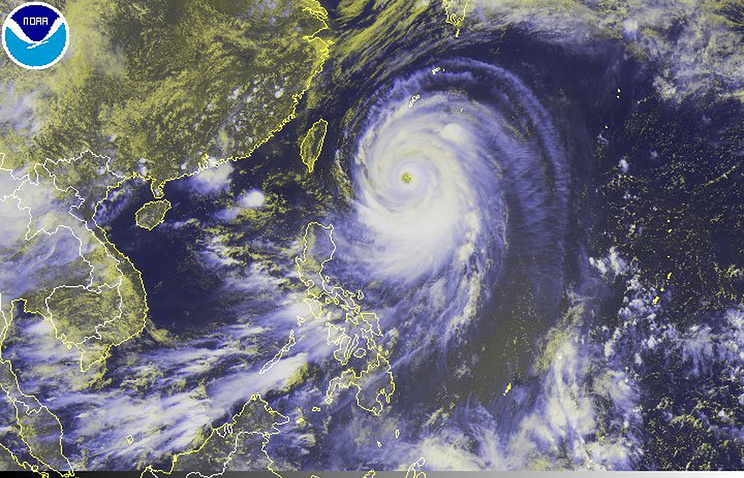 Typhoon Neoguri heading towards Japan