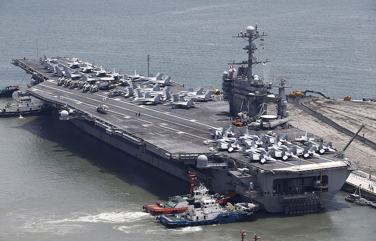 USS George Washington aircraft carrier in South Korea