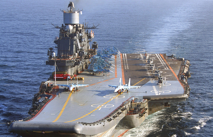Russia's only aircraft carrier Admiral Kuznetsov