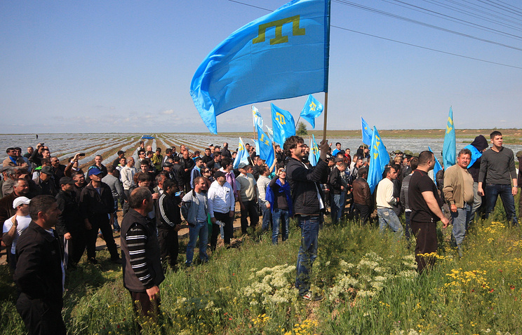 Crimean Tatars' protest in May 2014