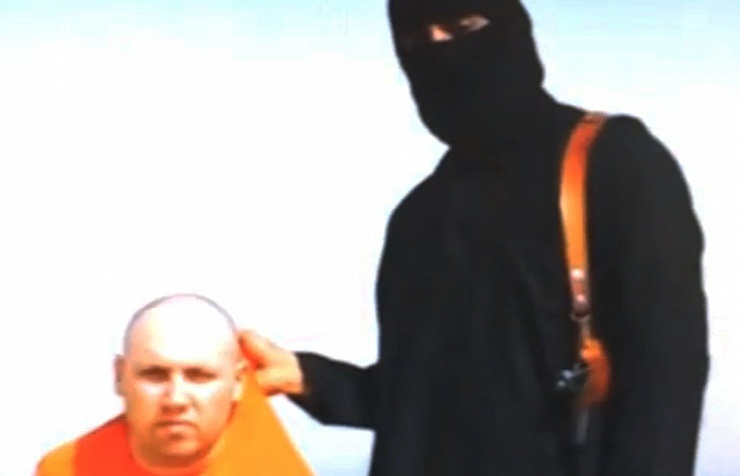 Still from video footage recorded by ISIS militants