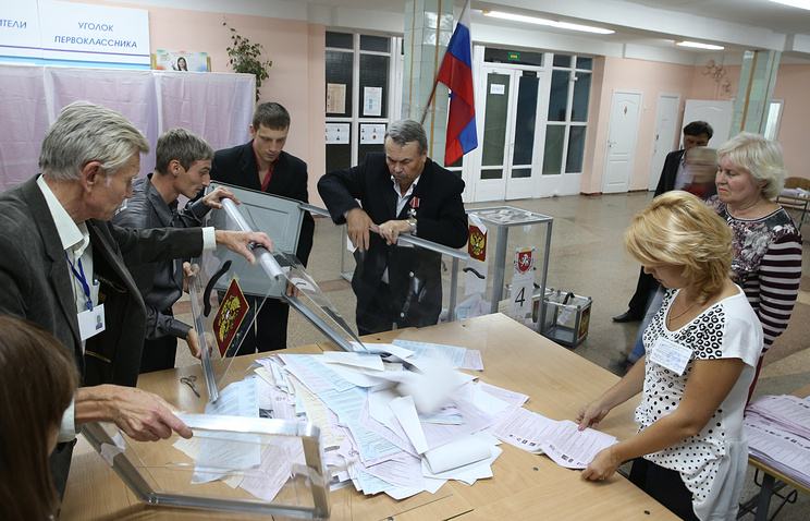 Vote counting in Crimea