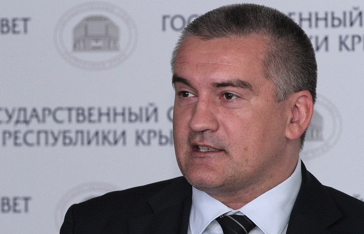 Crimea's acting head Sergey Aksyonov
