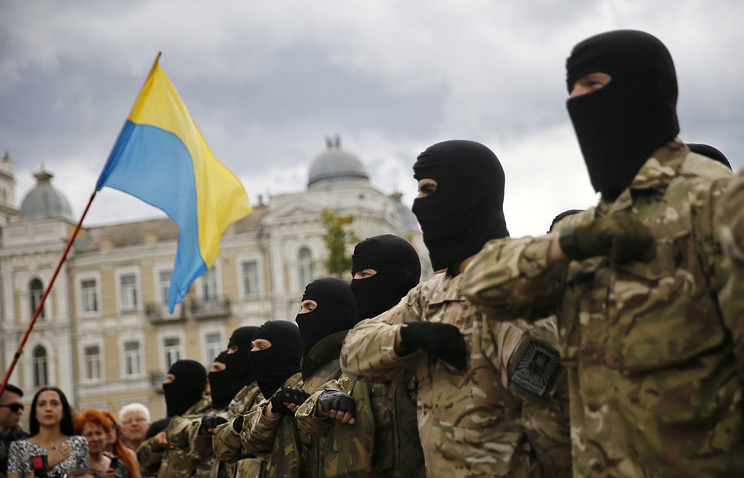 Ukrainian government army volunteer battalion
