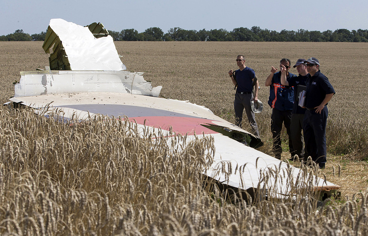 Malaysian Boeing wreckage site in the Donetsk region