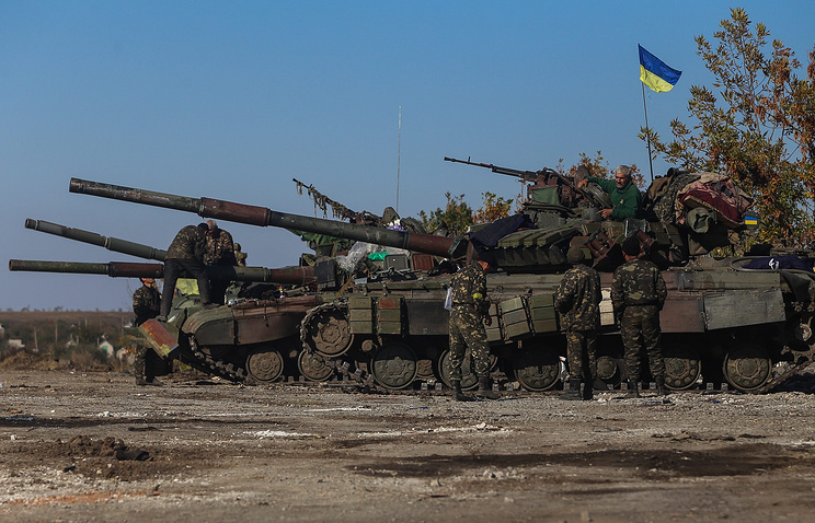 Ukrainian military hardware seen in the east of the country