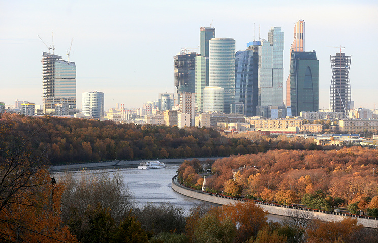 A view of the Moscow-City Business Center
