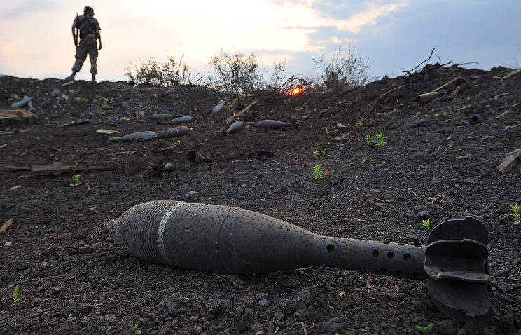 A mortar shell seen in Ukraine (archive)