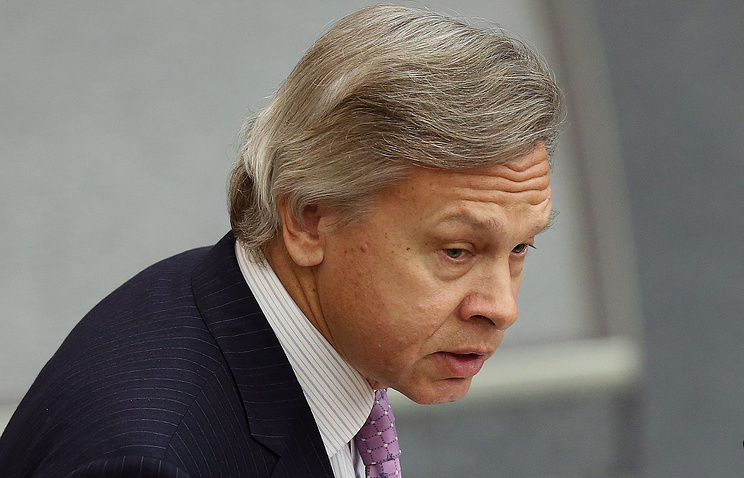 Russia's State Duma Foreign Affairs Committee chairman Alexey Pushkov
