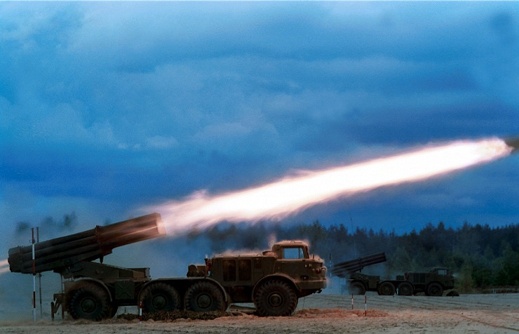 Uragan multiple launch rocket system (archive)
