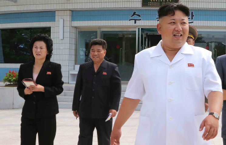North Korean leader Kim Jong-un (right) accompanied by younger sister, Kim Yo-jong, (left)