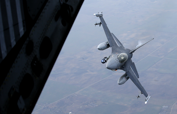 Military fighter jet participating in NATO's Baltic Air Policing Mission