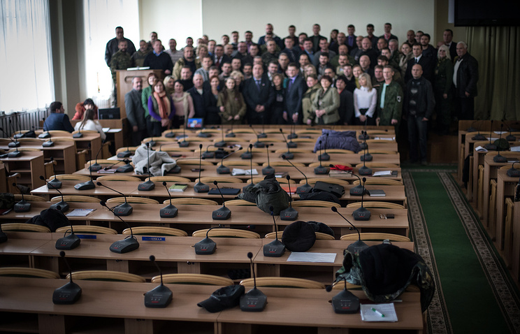 First meeting of the Lugansk People's Republic parliament