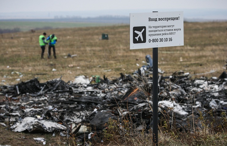 Malaysia Airlines Boeing 777 crash site in eastern Ukraine
