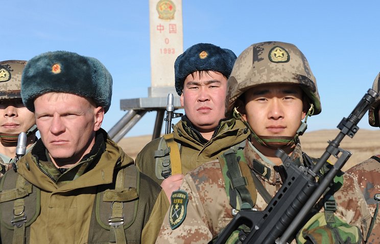 Joint drills of Russian and Chinese border guard services