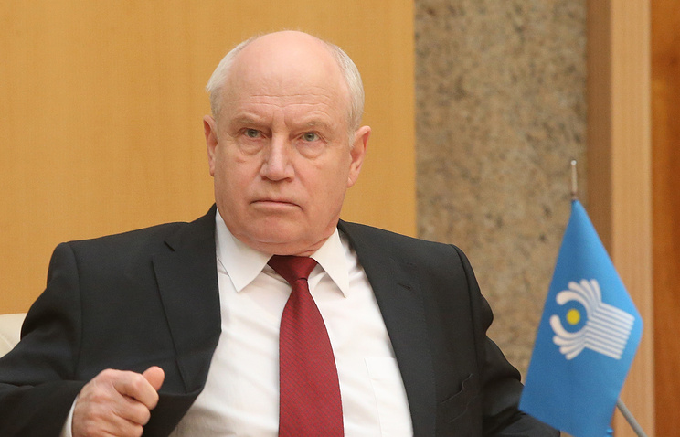 CIS executive committee head Sergey Lebedev