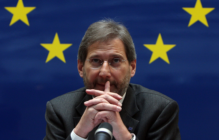 European Commissioner for European Neighborhood Policy and Enlargement Negotiations Johannes Hahn