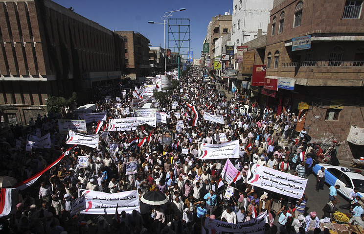 Protesters in Sana'a