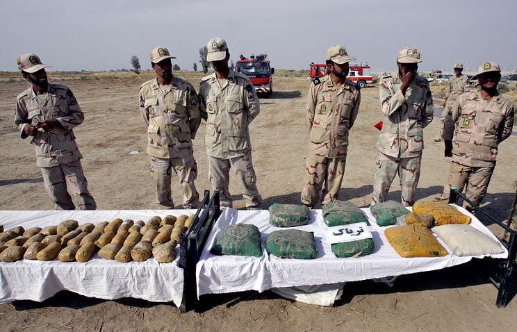 Drugs seized at the border of Iran and Afghanistan