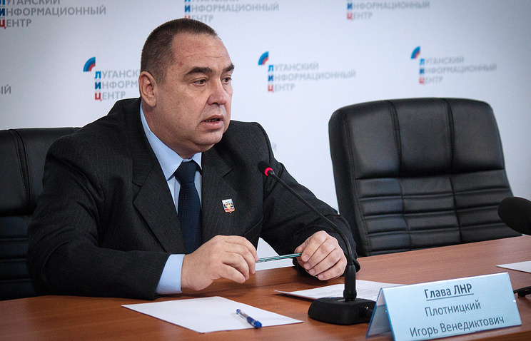 Head of the self-proclaimed Lugansk People's Republic (LPR) Igor Plotnitsky