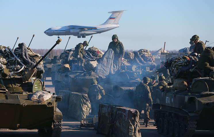 Russian Airborne troops during an alert exercise