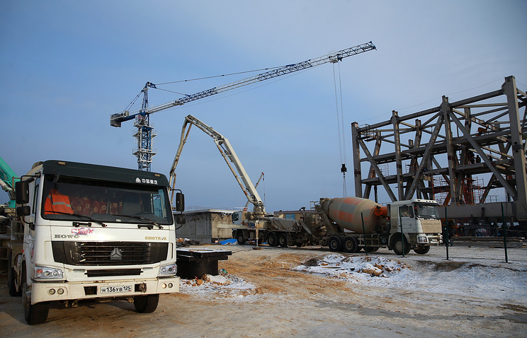Vostochny cosmodrome construction site on December 25, 2014, one year ahead of the first launch
