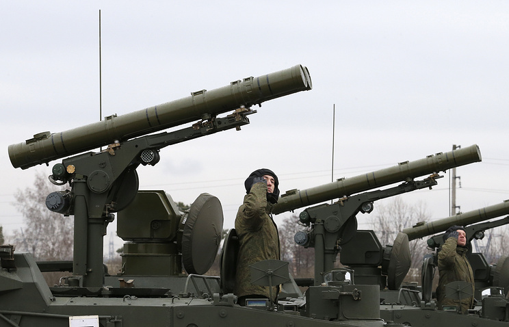 Khrizantema-S supersonic anti-tank missile complexes